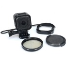 Kingma 52mm Filter Adapter + CPL Lens + Filter Case Kit for GoPro Hero 4 Session - Black