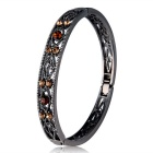 Retro Crystal Inlaid Bracelet for Women - Black + Multicolor