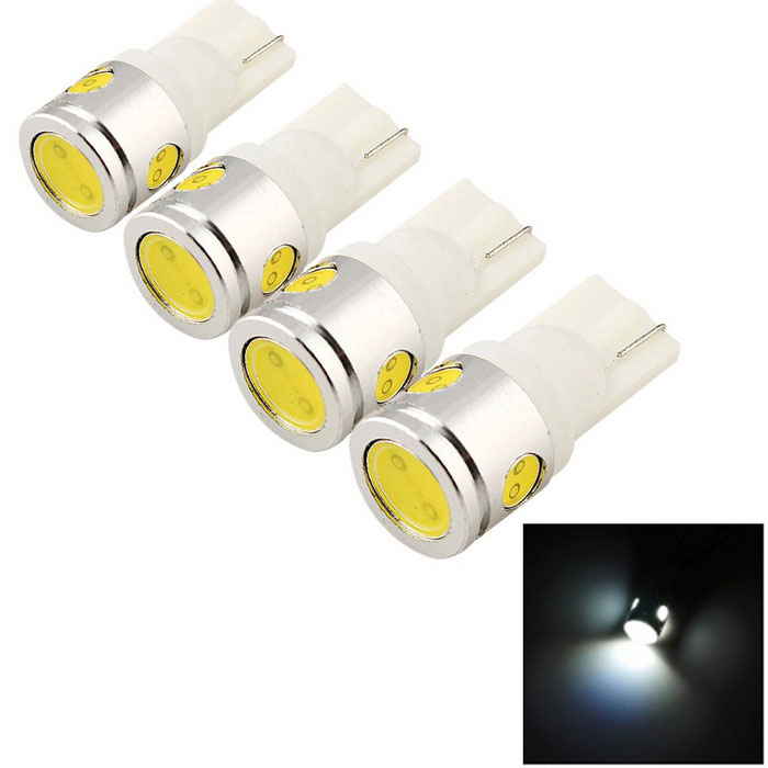 YouOKLight T10 5W 480lm 4-LED White Light Car Indicator Lamp (4PCS)