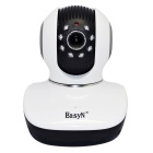 "EasyN 1/4"" CMOS 1.0MP 3X Zoom IP Camera w/ 8-IR-LED / Wi-Fi / IR-CUT / TF - White + Black (EU Plug)"