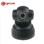 "CPTCAM 1/2.7"" CMOS 300KP Wireless IP Camera w/ 10-IR-LED, Wi-Fi, TF - Black (UK Plug)"