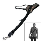 Neck Shoulder Camera Strap Single Shoulder Sling Black Belt Strap for SLR DSLR - Green Camouflage