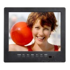 "L8008HD 8.0"" LCD Display Screen Car Monitor w/ Stand + Speaker + VGA Cable - Black"