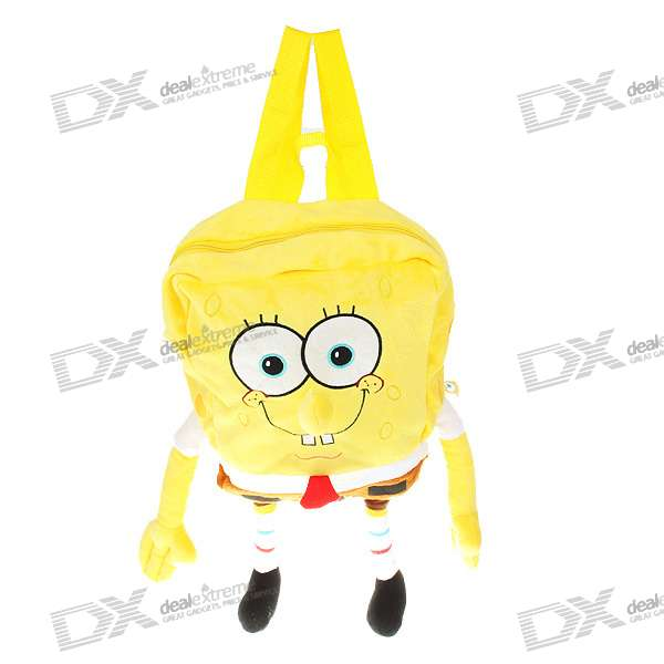Cute SpongeBob Squarepants Figure Plush Backpack School Bag (Style Assorted) кеды детские spongebob squarepants x 5177