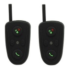 BT Interphones / Handsfree Bluetooth Headsets for Motorcycle / Skiing Helmet - Black (2 PCS)