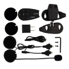 VNETPHONE V5-US 5-Rider Motorcycle Bluetooth Helmet Intercom - Black