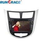 Rungrace RL-499WGNR 7-inch 2 Din TFT Screen In-Dash Car DVD Player for Hyundai Verna w/ BT, GPS, RDS