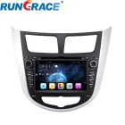 Rungrace Android 7-inch 2 Din In-Dash Car DVD Player for Hyundai Verna w/ BT, IPOD, GPS, Wi-Fi