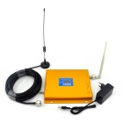 LCD Display 2G 3G Dual-band Phone Signal Booster w/ Antenna - Gold