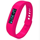 Bluetooth 2.1 Smart Sport Watch w/ Pedometer / Calorie Count / Android System - Deep Pink