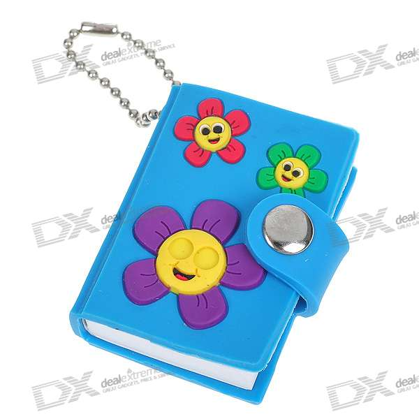 Cartoon Mini Notebook/Memo Pad with Carrying Chain - Patter Assorted