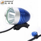 ZHISHUNJIA XM-L T6 LED 800lm 4-Mode White Bicycle Light Headlight - Blue + Silver (4 x 18650)