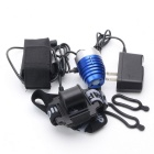 ZHISHUNJIA XM-L LED 4-Mode White Bike Light Headlight - Blue + Silver