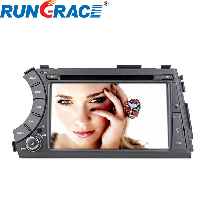 "Rungrace 7"" Car DVD Player w/ RDS, ISDB-T for Ssangyong Actyon Kyron"