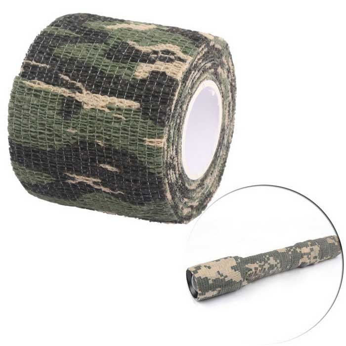 Outdoor Tactical Shooting Hunting Adhesive - Camouflage (45cm)Other Accessories<br>Form ColorForest camouflageQuantity1 DX.PCM.Model.AttributeModel.UnitMaterialPolyesterSizeFree SizeBand Length45 DX.PCM.Model.AttributeModel.UnitPacking List1 x Camouflage Adhesive<br>