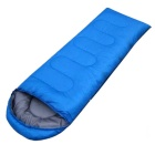 Polyester Tufts Hollow Cotton Fabric Outdoor Camping Sleeping Bag - Blue + Gray