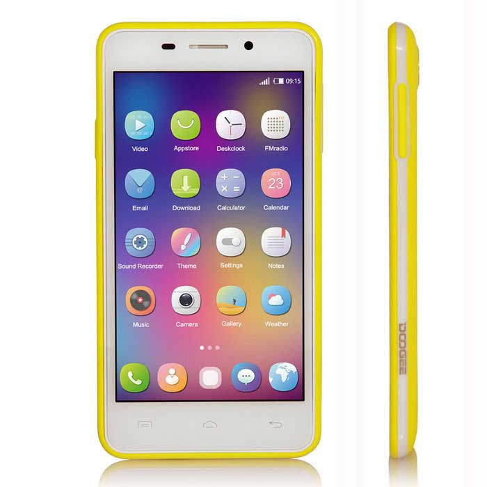 Special Edition DOOGEE LEO DG280 Phone w/ 1GB RAM, 8GB ROM - Yellow