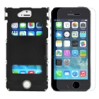 ARMOR KING Metal Protective Full Body Case + Tempered Screen Guard Set for IPHONE 5 / 5S - Black