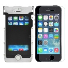 ARMOR KING Metal Protective Case + Tempered Screen Guard Set for IPHONE 5 / 5S - Black + Silver