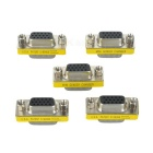 VGA DB15 15-Pin Male to Female Mini Adapter Connector - Silver (5PCS)