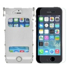 ARMOR KING Metal Protective Full Body Case + Tempered Screen Guard Set for IPHONE 5 / 5S - Silver
