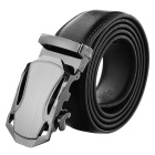 Men's Split Leather Belt w/ Car Pattern Automatic Buckle - Black