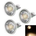 GU10 5W COB LED Spotlight Bulb Lamp Warm White Light 3000K 350lm (AC 220V / 3PCS)