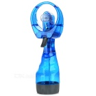 Portable Handheld Mini Cooling Fan w/ Spray - Translucent Blue (2 x AA)