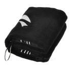 TOURLOGIC Outdoor Golf Playing Cotton Towel - Black