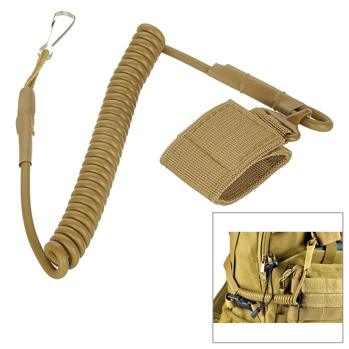 Backpack Spring Keyring Multifunction Tactical Hanging Rope - Tan