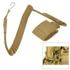 Outdoor Backpack Super Strength Spring Keyring Multifunction Tactical Hanging Rope - Coyote Tan