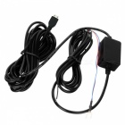 Cwxuan Micro USB 12V to DC 5V Voltage Step Down Power Converter Cable for Car DVR / GPS - Black (4m)