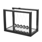 Cradle Balance Balls Office Decoration Ornament w/ Mirror - Black