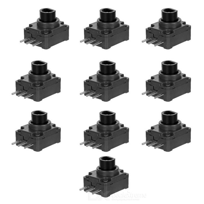 LT/RT Buttons for XBOX 360 Wireless Controller - Black + Grey (10PCS)