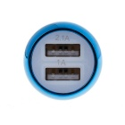 2.1A Dual USB Quick-Charging Car Charger - White + Blue (12~24V)