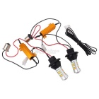 MZ 10W Orange + Blue LED Car Rear Brake / Front Turn Signal / DRL Lamp