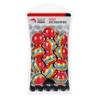 TOURLOGIC Indoor Practice EVA Golf Balls - Red (12PCS)