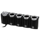 120W Car Cigarette Lighter Socket Splitter / Dual-USB Adapter - Black