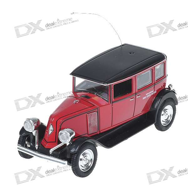 Mini Rechargeable R/C Model Classic Car - Red + Black (27MHz)