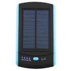 6000mAh Solar Powered Power Bank for Smartphones / Tablets / GPS / Digital Cameras + More - Blue