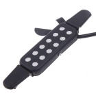 12-Hole Acoustic Guitar Microphone Cable Sound Pickup - Black