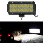 60W 12-LED Off-road 4WD UTV Worklight Bar Lamp w/ Lens White Spot Beam 5100m 6000K (DC 10~30V)