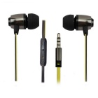 MGALL M7 Universal Remote Mega Bass Earphone w/ Mic - Black