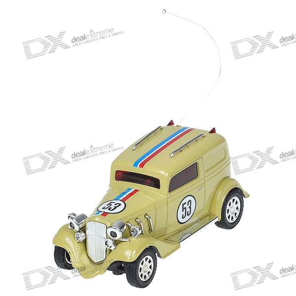 Mini Rechargeable R/C Model Classic Car - Green + Silver (35MHz)