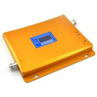 LCD Display 2G GSM 900MHz 3G W-CDMA 2100MHz Mobile Phone Signal Booster with Antenna - Gold