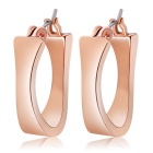 Classic Alloy Earrings - Rose Gold (Pair)