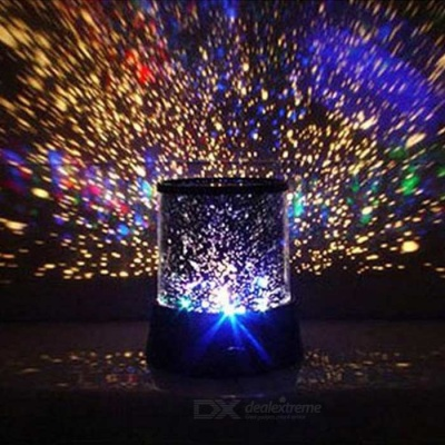 Amazing Sky Star Pattern Projector Lamp Night Light - Black (3*AA)