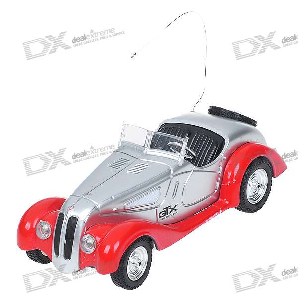 Mini Rechargeable R/C Model Classic Roadster Car - Red + Silver (49MHz)