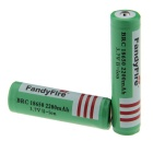 FandyFire 3.7V 18650 2000mAh Protected Li-ion Battery (2 PCS)
