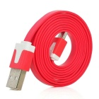 USB Male to Micro USB Male Charging Data Flat Cables - Red (4PCS / 1m)